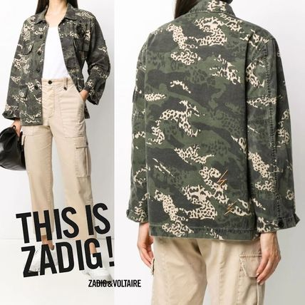 ZADIG & VOLTAIRE Parkas Camouflage Casual Style Street Style Parkas
