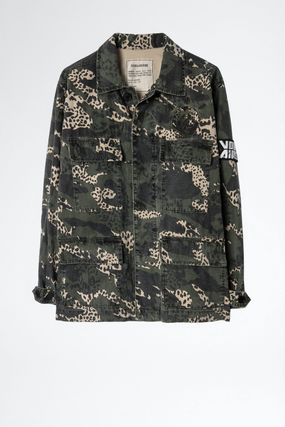Camouflage Casual Style Street Style Parkas