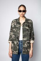 ZADIG & VOLTAIRE Parkas Camouflage Casual Style Street Style Parkas 4