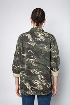 ZADIG & VOLTAIRE Parkas Camouflage Casual Style Street Style Parkas 6