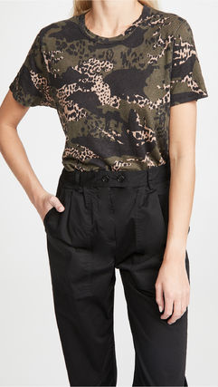 Camouflage Linen Street Style Short Sleeves T-Shirts