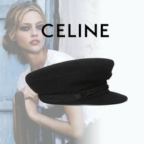 CELINE Sailor Cap In Wool Cloth