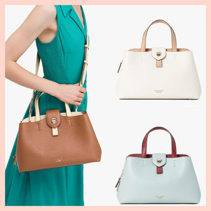 kate spade new york Casual Style 2WAY Plain Leather Office Style Elegant Style