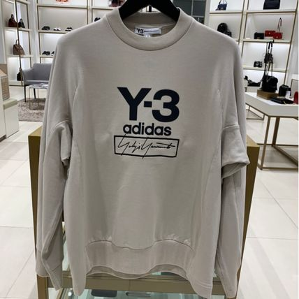 Y-3 Sweatshirts Unisex Sweat Street Style Long Sleeves Plain Cotton Logo 4