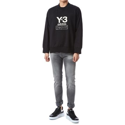 Y-3 Sweatshirts Unisex Sweat Street Style Long Sleeves Plain Cotton Logo 7