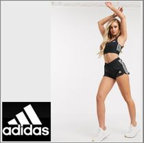 adidas Short Casual Style Street Style Plain Cotton Party Style