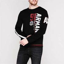 A/X Armani Exchange Long Sleeve Crew Neck Pullovers Long Sleeves Cotton Logos on the Sleeves 8