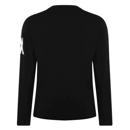 A/X Armani Exchange Long Sleeve Crew Neck Pullovers Long Sleeves Cotton Logos on the Sleeves 3