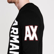 A/X Armani Exchange Long Sleeve Crew Neck Pullovers Long Sleeves Cotton Logos on the Sleeves 5