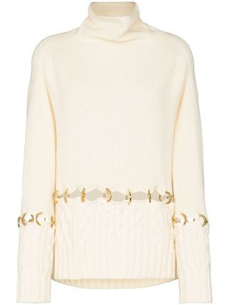 sacai Casual Style Wool Long Sleeves Chain Plain Party Style