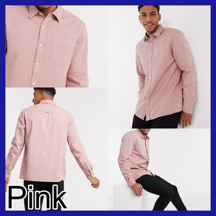TOPMAN Shirts Long Sleeves Plain Cotton Shirts 3