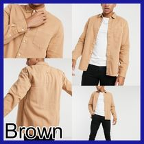 TOPMAN Shirts Long Sleeves Plain Cotton Shirts 4
