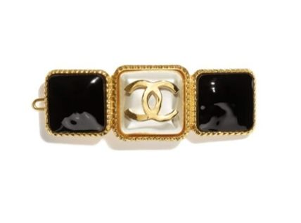 CHANEL Costume Jewelry Barettes Elegant Style Formal Style  Clips