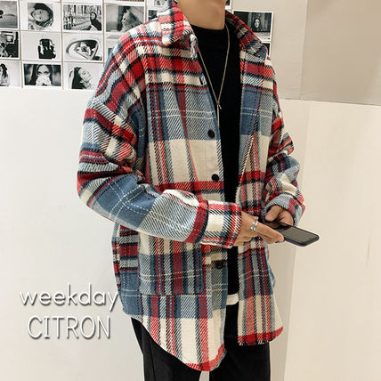Shirts Tartan Other Plaid Patterns Long Sleeves Front Button Shirts