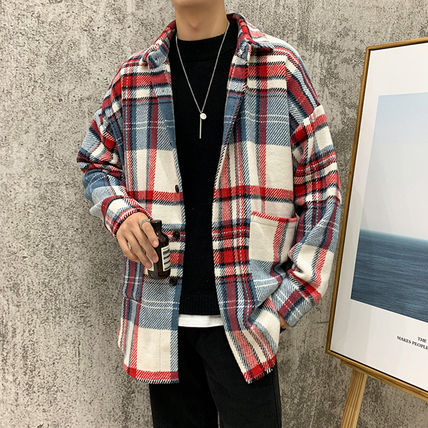 Shirts Tartan Other Plaid Patterns Long Sleeves Front Button Shirts 5