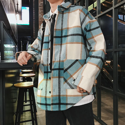 Shirts Tartan Other Plaid Patterns Long Sleeves Front Button Shirts 8