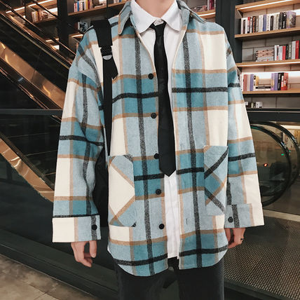 Shirts Tartan Other Plaid Patterns Long Sleeves Front Button Shirts 9