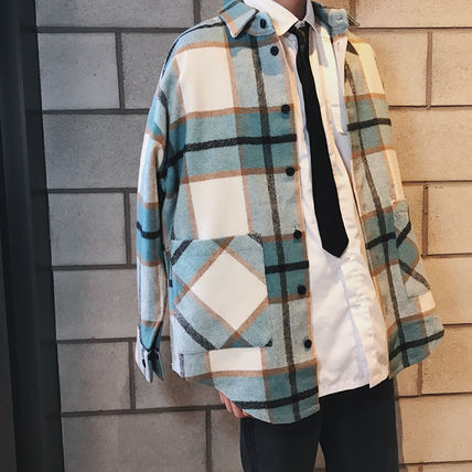 Shirts Tartan Other Plaid Patterns Long Sleeves Front Button Shirts 10