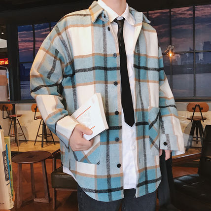 Shirts Tartan Other Plaid Patterns Long Sleeves Front Button Shirts 11