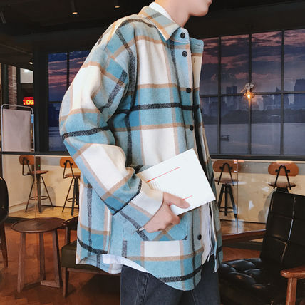Shirts Tartan Other Plaid Patterns Long Sleeves Front Button Shirts 12