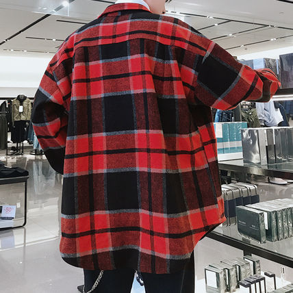 Shirts Tartan Other Plaid Patterns Long Sleeves Front Button Shirts 16