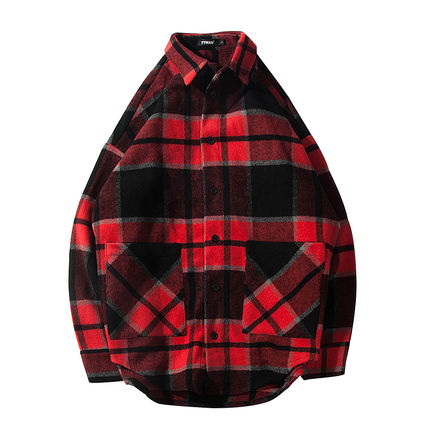 Shirts Tartan Other Plaid Patterns Long Sleeves Front Button Shirts 20
