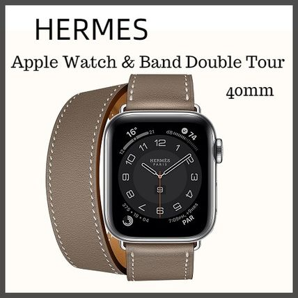 HERMES Series6 Case & Band Apple Watch Hermes Double Tour 40Mm
