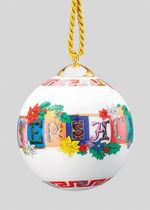 VERSACE Versace Holiday Alphabet Ornament