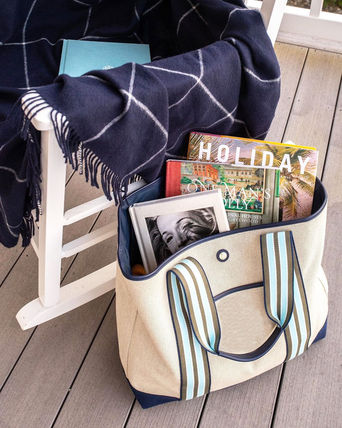 Stripes Casual Style Canvas Totes