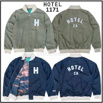 Ron Herman Short Unisex Nylon Logo Varsity Jackets