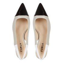 FURLA Rubber Sole Plain Leather Party Style Office Style