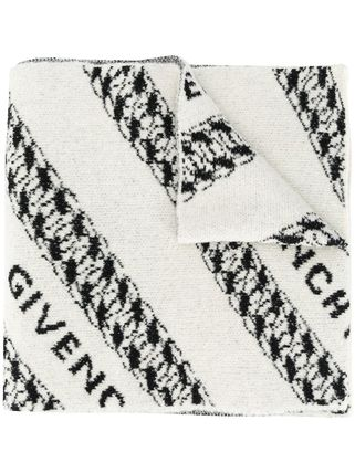 GIVENCHY Wool Logo Scarves