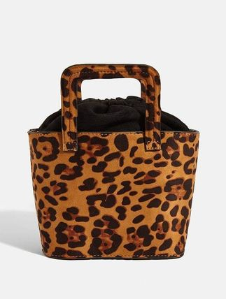 Leopard Patterns Casual Style 2WAY Elegant Style Totes