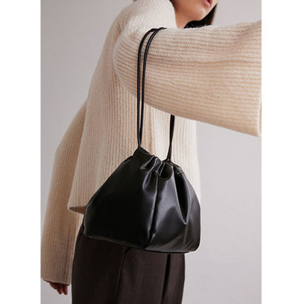 Casual Style Faux Fur Plain Leather Purses Formal Style