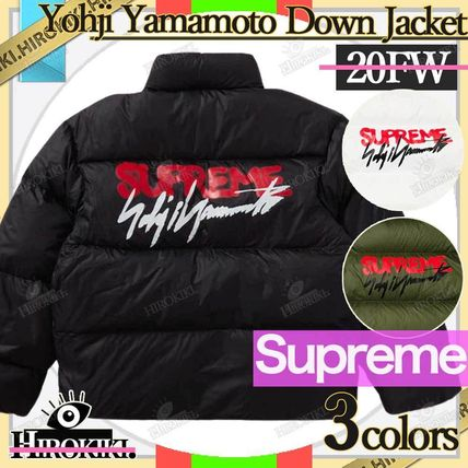 Street Style Collaboration Logo Down Jackets
