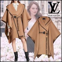 Louis Vuitton Casual Style Wool Plain Medium Party Style Angola