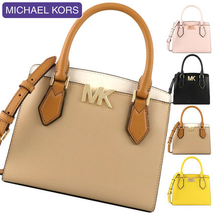 Michael Kors MOTT 2WAY Plain Leather Crossbody Handbags
