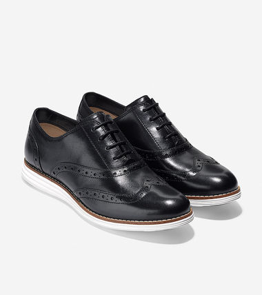 Cole Haan Platform Rubber Sole Casual Style Street Style Plain Leather