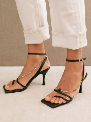 Square Toe Party Style Heeled Sandals