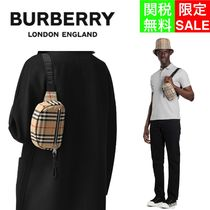Burberry Glen Patterns Other Plaid Patterns Casual Style Unisex Nylon