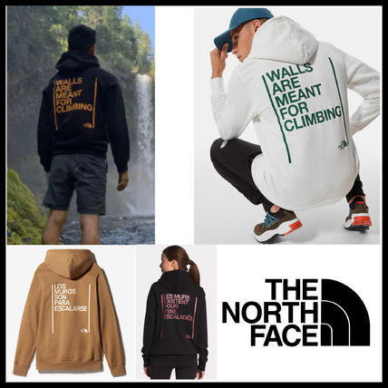 THE NORTH FACE Hoodies Unisex Street Style Plain Logo Outdoor Hoodies