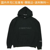 FEAR OF GOD ESSENTIALS Street Style Cotton Logo Hoodies