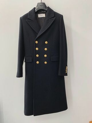 CELINE Peacoat In Felted Wool