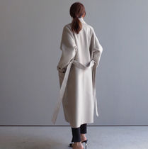 Casual Style Plain Long Chester Coats