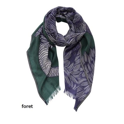 Wool Knit & Fur Scarves