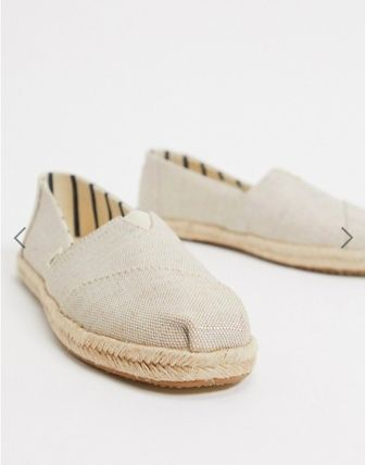 Square Toe Casual Style Plain Slip-On Shoes