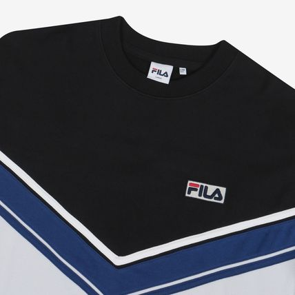 FILA Sweatshirts Unisex Street Style Long Sleeves Cotton Sweatshirts 19