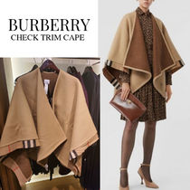 Burberry Other Plaid Patterns Unisex Wool Ponchos & Capes