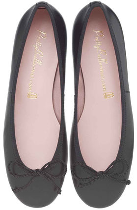 Street Style Plain Leather Ballet Shoes