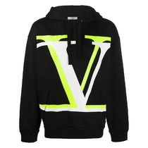 VALENTINO Street Style Long Sleeves Cotton Logo Luxury Hoodies